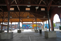 "Eastern Market with ""Heartstrings of the City"" mural by FEL3000ft 2015"