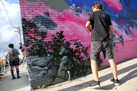UK artists Graeme Brusby & Duncan Jago collaborate on their mural 2016